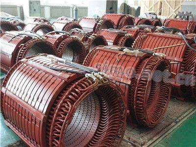 电机定转子生产现场