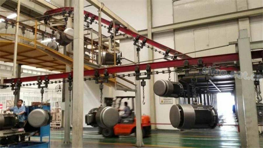 小型三相异步电机生产线展示